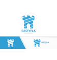 castle logo combination tower and safe vector image