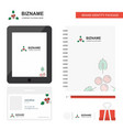 cherries business logo tab app diary pvc employee vector image vector image