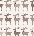 Christmas reindeers seamless pattern vector image vector image