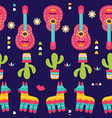 cinco de mayo seamless pattern for festival in vector image vector image