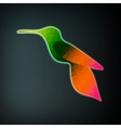 Colorful abstract hummingbird vector image vector image