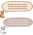 Cute cartoon dog and a speaking bubble vector image vector image