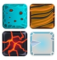 Different Materials and Textures for Game Icon vector image vector image