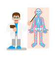 doctor show on x-ray photo vector image vector image