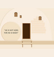 easter holiday empty stone tomb vector image