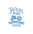 Farm Food Blue Vintage Emblem vector image vector image