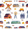 farm related items seamless pattern country vector image