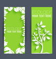 flat eco leaf banners concept vector image