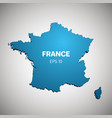 france map blue color vector image