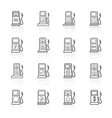 Gas pump icons eps 10collection vector image