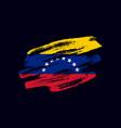 grunge textured venezuealan flag vector image vector image