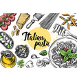 hand drawn outline food vector image vector image