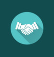 handshake - icon for graphic and web design vector image