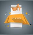 harmful cigarette viper smoke business vector image vector image