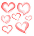 hearts set hand drawn valentine day vector image