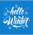 hello winter phrase vector image