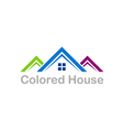 house color roof business realty logo vector image vector image