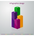 infographics vertical columns vector image