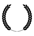 laurel wreath silhouette icon vector image