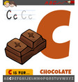 letter c from alphabet with cartoon chocolate