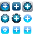 Map blue app icons vector image vector image