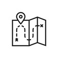 map line icon location sign and symbol vector image vector image