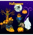 Meeting of the spirits on Halloween vector image vector image