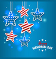 memorial day with star in national vector image