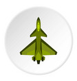 Military fighter jet icon circle