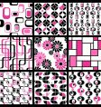 modern seamless patterns vector image