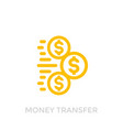 money transfer icon on white vector image vector image