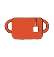 mug tea two hang breakfast sketch vector image