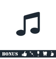 Music icon flat vector image vector image