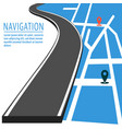 navigation with pin pointer vector image vector image