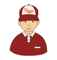 Pizza guy hat icon vector image