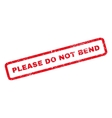 Please Do Not Bend Rubber Stamp