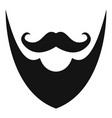 pointing beard icon simple style vector image vector image