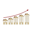 Rising Housing Market Concept vector image
