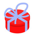 round gift box icon isometric style vector image