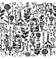 Seamless cute pattern of flora and fauna vector | Price: 1 Credit (USD $1)
