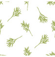 seamless pattern with hand drawn pastel rosemary vector image vector image