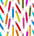 Seamless Wallpaper with Colorful Pencils vector image