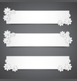 set banners with white flowerspraznichnye vector image