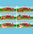 set farmland landscape vector image vector image