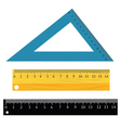 set of rulers vector image vector image
