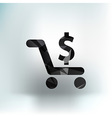 Shopping cart symbol backgroundclean vector image vector image