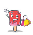shopping ice cream character cartoon vector image vector image