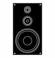 sound box vector image