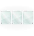 Transparent Glass Frames vector image vector image