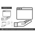 Webpage line icon